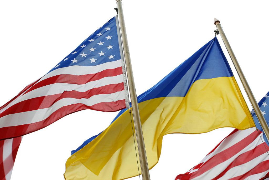 Флаг США и Украины
