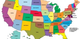 Карта регионов США