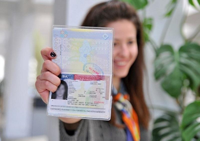 Загранпаспорт с визой в США