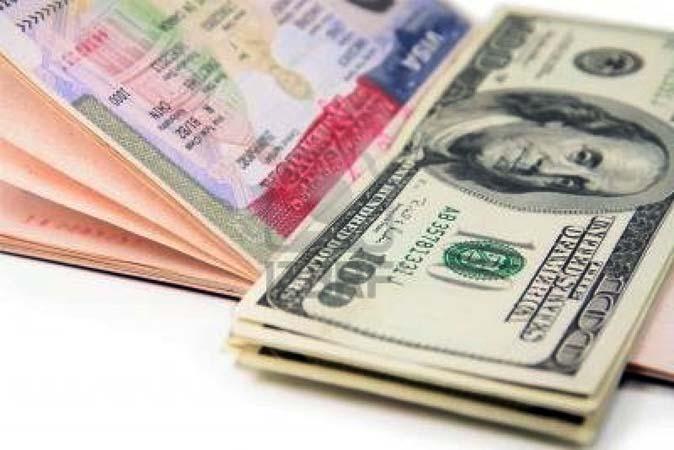 Доллары и виза США