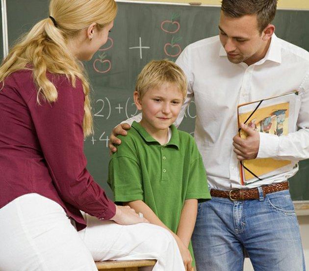 Школьник и родители