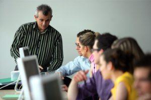 Преподаватель и слушатели
