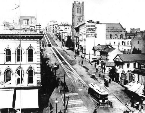старое фото канатного трамвая