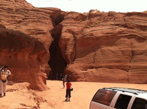 вход в верхний каньон