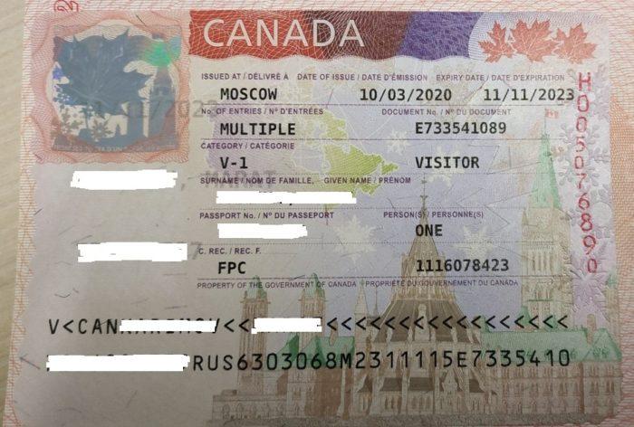 визы в Канаду для россиянс