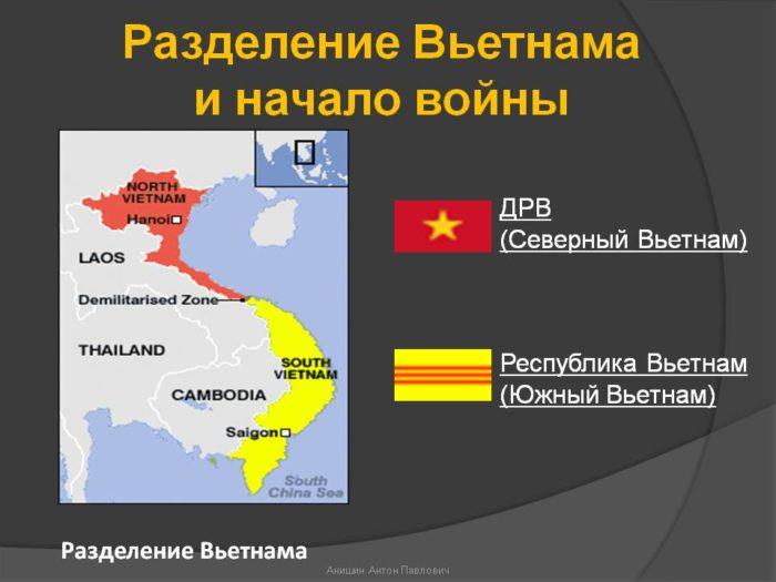 Разделение Вьетнама и начало войны
