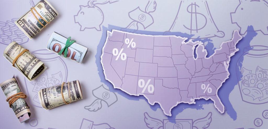 процентная ставка по вкладам в США?