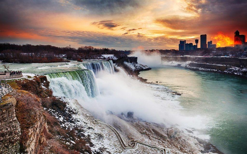 Смещение водопада
