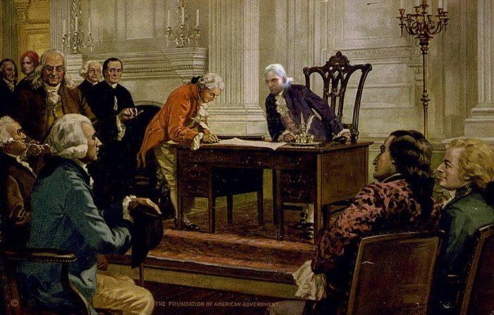 Принятие Конституции США