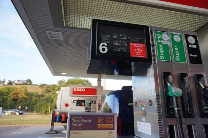 Цена бензина в Германии